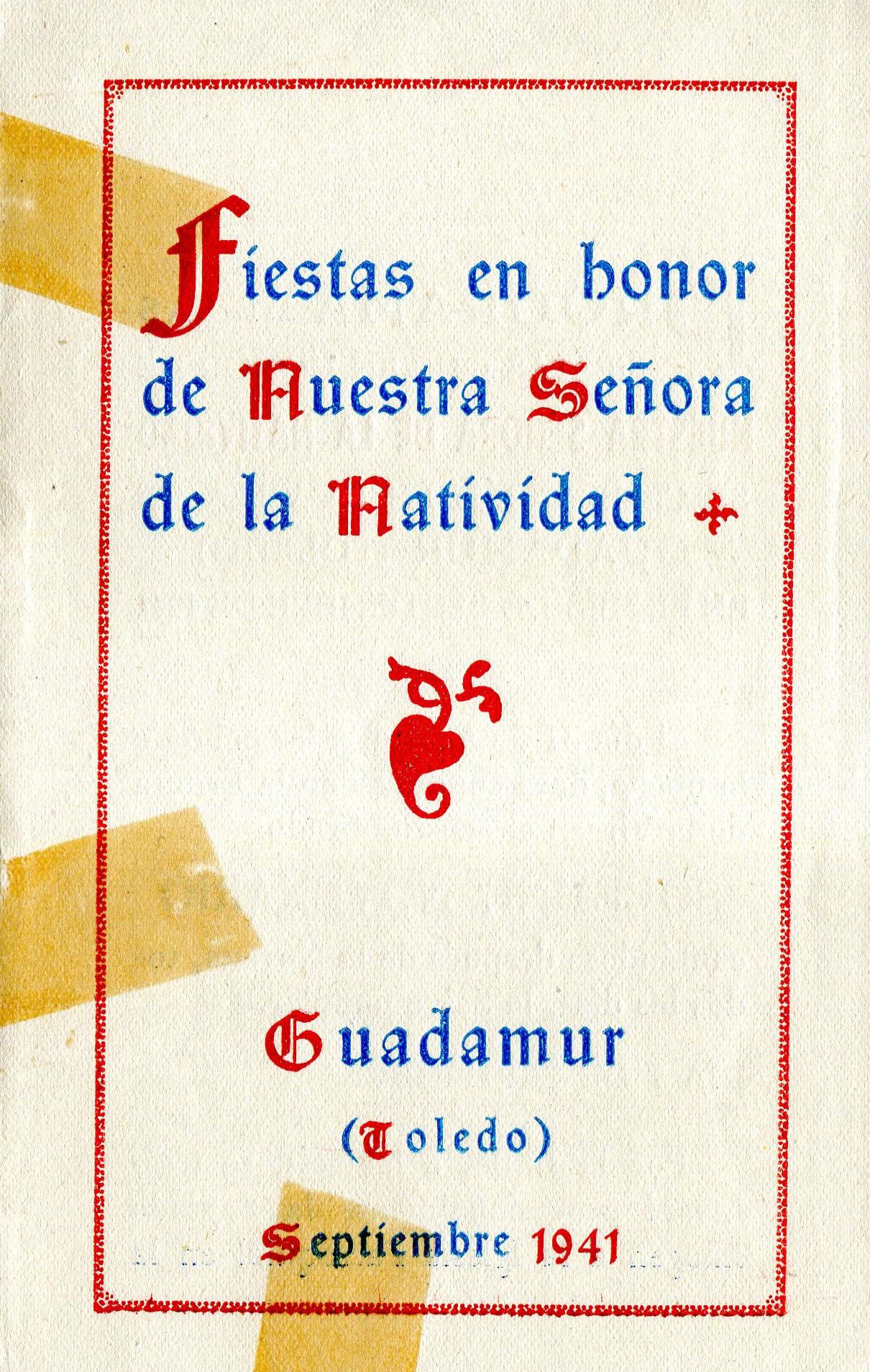 1941 – Programa de fiestas